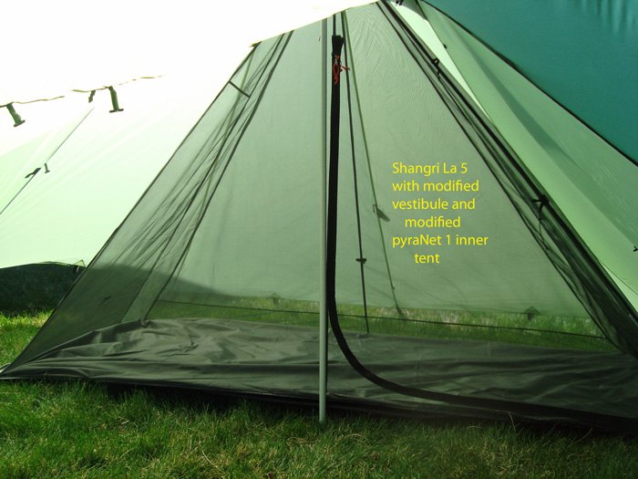 Custom Shangri-La 3 with modified vestibule : shangri la tent - memphite.com