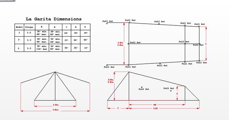 la garita tents dimensions  sc 1 st  Bear Paw Wilderness Designs & Product La Garita Tent Page
